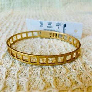 MADEWELL Gold Tone Tracecraft Bangle Bracelet